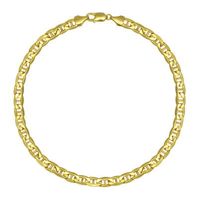 "Made in Italy 10K Yellow Gold 22"" Hollow Mariner Chain"