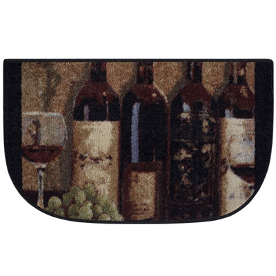 Wine Chateau Kitchen Wedge Rug