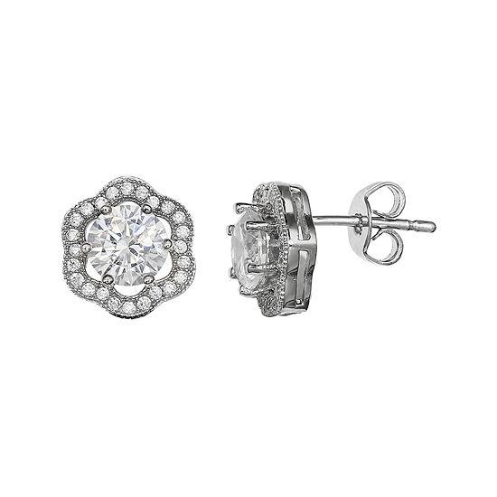 Sparkle Allure™ Flower-Shaped Cubic Zirconia Earrings