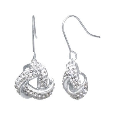 Sparkle Allure White Drop Earrings