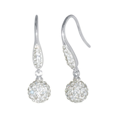Sparkle Allure White Drop Earrings