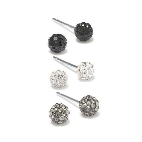 Silver Treasures Multi Color Stud Earrings