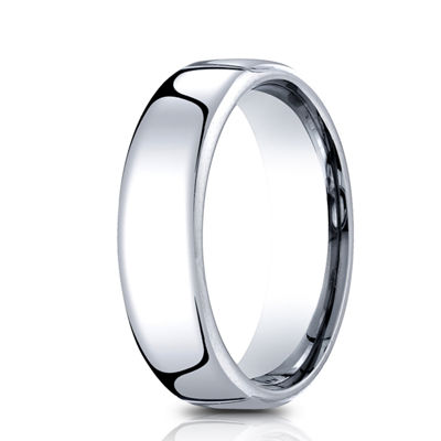 Mens Comfort Fit 6.5mm Polished Cobalt Wedding Band