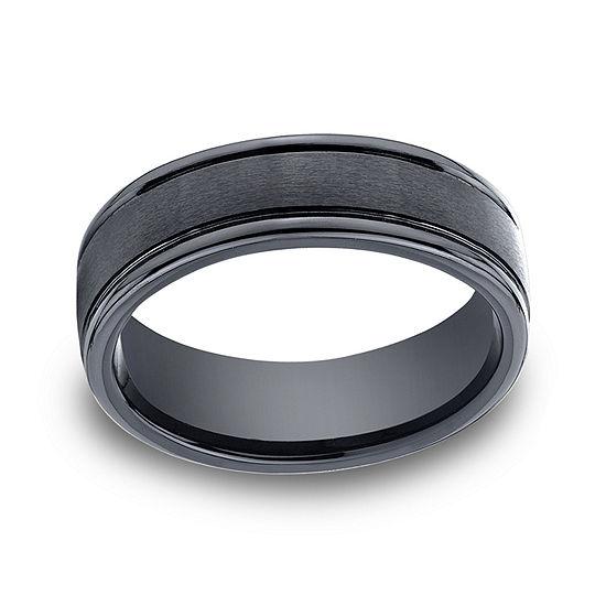 Mens Comfort Fit 7mm Black Cobalt Wedding Band