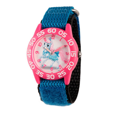 Disney Girls Palace Pets Blue Bibiddy Time Teacher Strap Watch W002828
