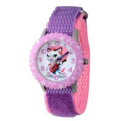 Disney Girls Purple and Pink Sheriff Callie Time Teacher Strap Watch W003085
