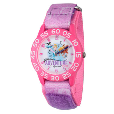 Disney Princess Girls Pink Adventure Time Teacher Strap Watch W002954