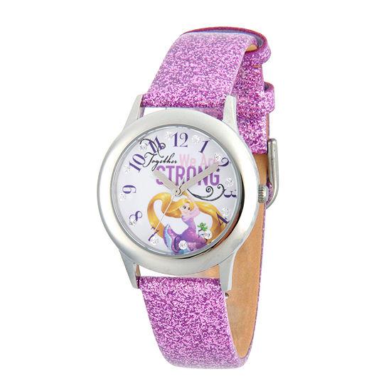 Disney Princess Girls Purple Tangled Glitz Strap Watch W002962