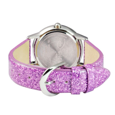 Disney Princess Girls Purple Tangled Glitz Strap Watch W002962