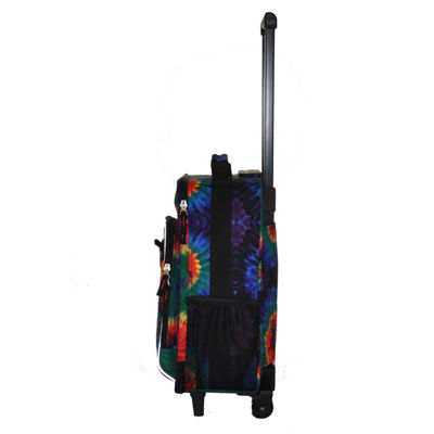 Obersee® Kids Tie-Dye Upright Roller Luggage with Integrated Cooler
