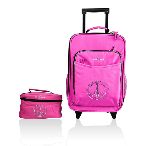 Obersee® Kids 2-pc. Peace Sign Luggage & Toiletry Bag Set
