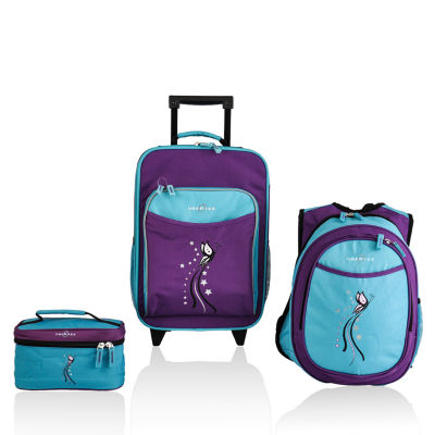 Obersee® Little Kids 3-pc. Butterfly Luggage, Backpack & Toiletry Bag Set