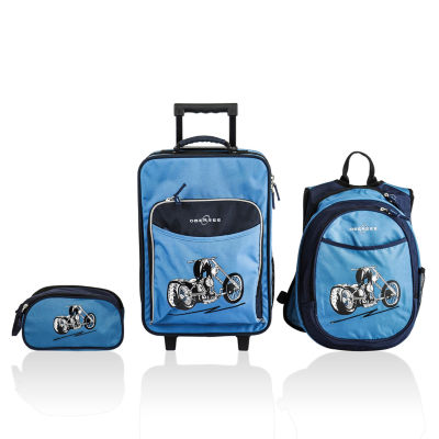 Obersee® Little Kids 3-pc. Motorcycle Luggage, Backpack & Toiletry Bag Set