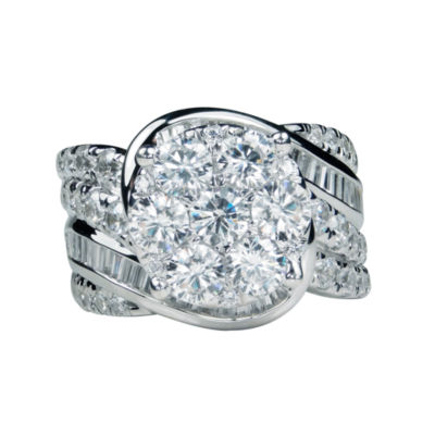 4 CT. T.W. Diamond 14K White Gold Engagement Ring