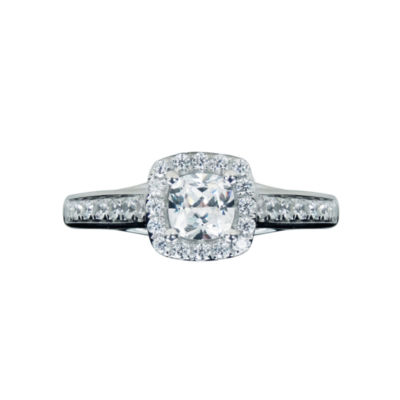 Modern Bride® Signature 1 1/2 CT. T.W. Diamond 14K White Gold Halo Engagement Ring