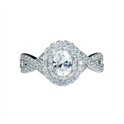 Modern Bride® Signature 1 Ct. T.W. Diamond 14K White Gold Engagement Ring