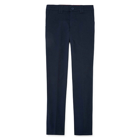 Dickies Big Girls Mid Rise Straight Flat Front Pant