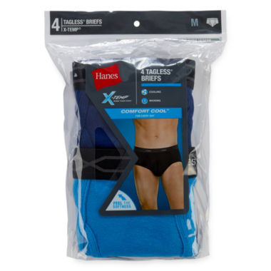 Hanes Men's X-Temp® Comfort Cool® FreshIQ™ Mid Rise Brief 4-Pack