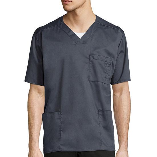 WonderWink® WonderWORK 103 Men's Short-Sleeve V-neck Top - Big