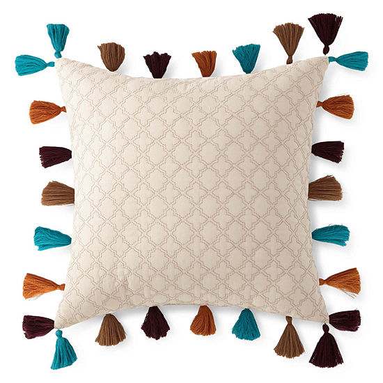 """JCPenney Home™ Casbah 16"""" Square Decorative Pillow"""