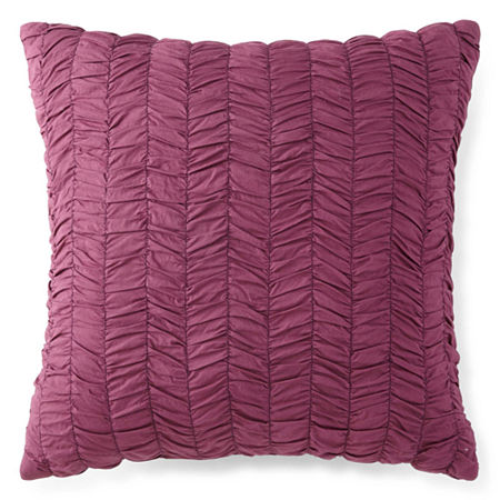 """JCPenney Home Casbah 18"""" Square Decorative Pillow, One Size , Purple"""