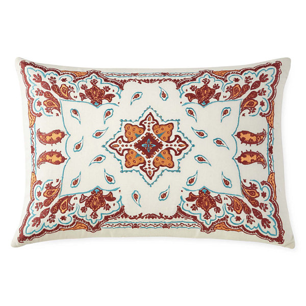 JCPenney Home™ Morocco Embroidered Oblong Pillow