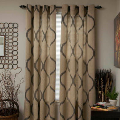 Cambridge Home Metallic Grommet-Top Curtain Panel
