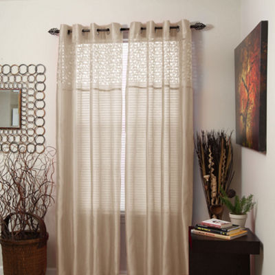 Cambridge Home Monica Grommet-Top Curtain Panel