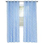 Cambridge Home Inas Embroidered Grommet-Top Curtain Panel