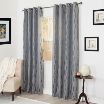 Cambridge Home Angelina Jacquard 2-Pack Grommet-Top Curtain Panels