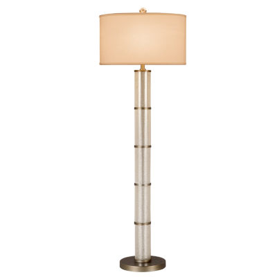 Catalina Cylinder Glass Floor Lamp