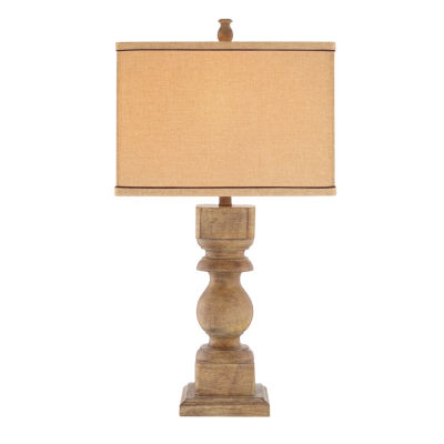 Catalina Faux-Wood Table Lamp