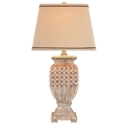 Catalina Antique Faux-Wood Table Lamp