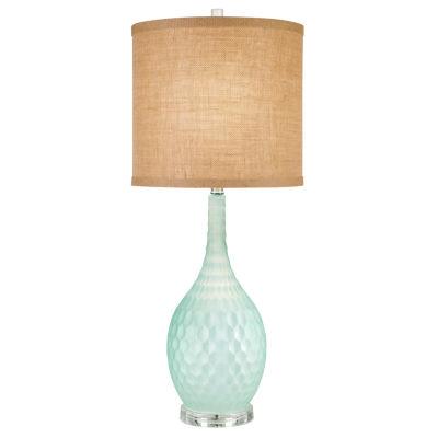 Catalina Seafoam Glass Table Lamp
