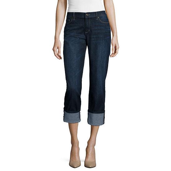 Liz Claiborne Boyfriend Fit Straight Leg Jeans