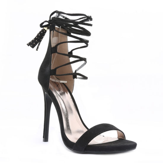 Qupid Glee Lace-Up Pumps