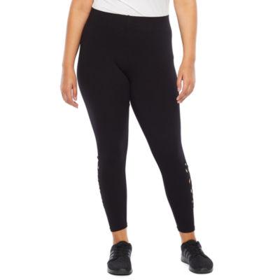 Mixit Plus Side Cutout Womens Slim Legging - Plus