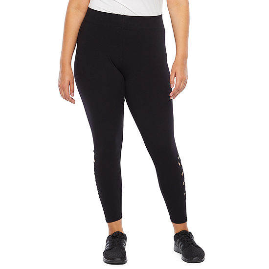 Mixit Plus Side Cutout Womens Slim Legging - Plus