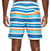 Hot Coals Striped Swim Trunks