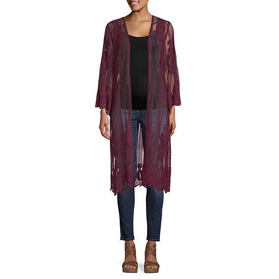 Artesia Womens 3/4 Sleeve Open Front Cardigan