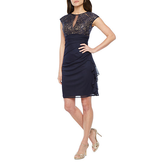 DJ Jaz Cap Sleeve Sheath Dress