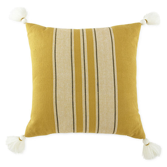 JCPenney Home Stripe Square Throw Pillow