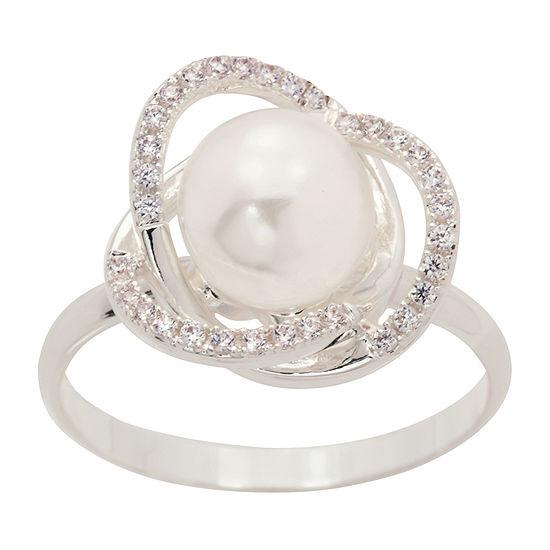 Sparkle Allure White Pure Silver Over Brass