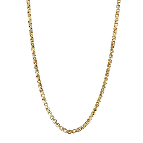 14K Gold Hollow Box Chain Necklace