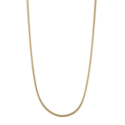 14K Gold Hollow Snake Chain Necklace
