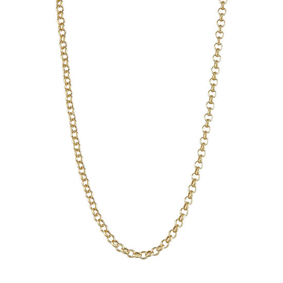 14K Gold Hollow Cable Chain Necklace
