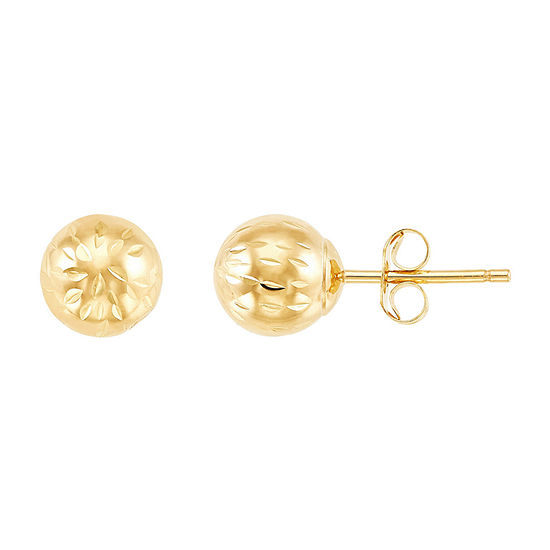 10k Gold 6mm Stud Earrings