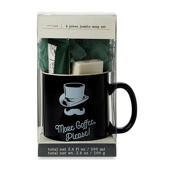 Dashing Men's Club 'More Coffee, Please!' Jumbo Mug Gift Set