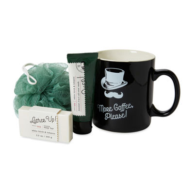 Dashing Men's Club 'More Coffee, Please!' Jumbo Mug Gift Set