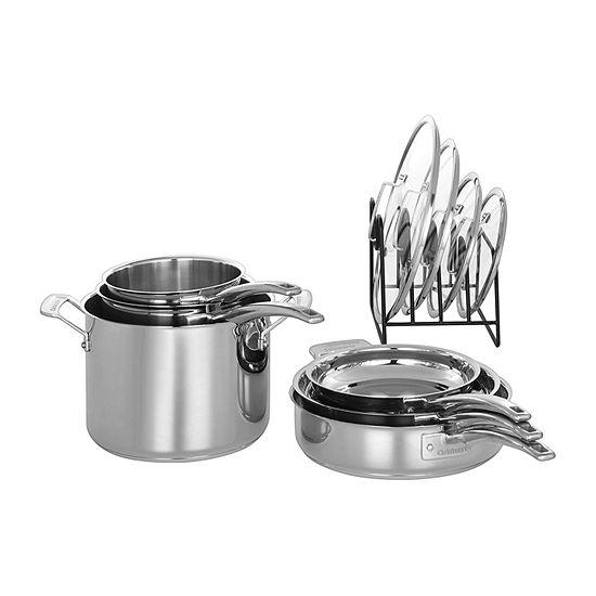 Cuisinart Nesting Stainless Steel 11-Pc. Cookware Set